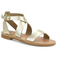Δερμάτινo χρυσό σανδάλι Iris Sandals IR7/20