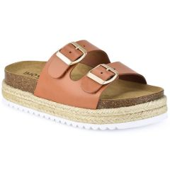 Leather tabac anatomic sandal BIO BIO 70436