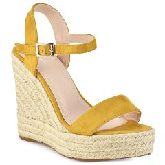 Yellow suede wedge 7067-3