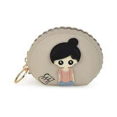 Beige small wallet Girl X712