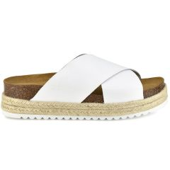 Leather white anatomic sandal BIO BIO 73674