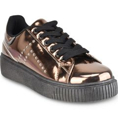 Bronze metallic sneakers Isteria 7376