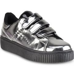 Pewter metallic sneakers Isteria 7376