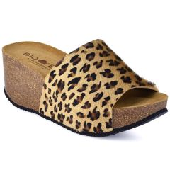 Leather leopard anatomic wedge BIO BIO 75099