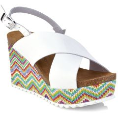Leather white anatomic wedge BIO BIO 74246