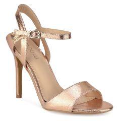 Copper lizard skin high heel sandal SG7671