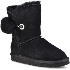 Black leather Australian Boot L7890