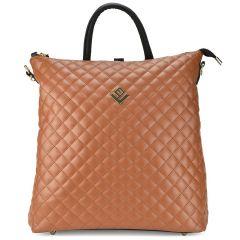 Ταμπά καπιτονέ τσάντα πλάτης Lovely handmade Succesfull