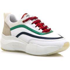 Δερμάτινο λευκό sneaker SIXTYSEVEN 80027