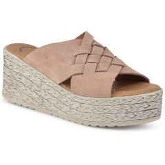 Leather nude flatform Wikers 87222