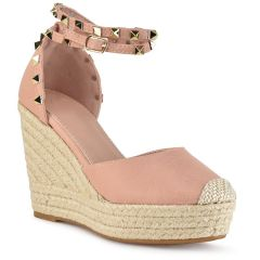 Pink espadrilles with studs 88-224