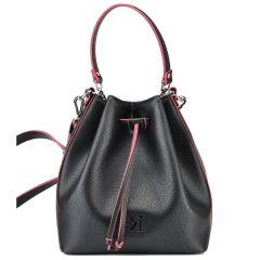 Μαύρη τσάντα πουγκί Pierro Accessories 90400