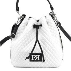White capitone pouch bag Pierro Accessories 90400