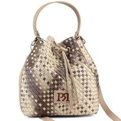 Beige pouch bag Pierro Accessories 90400PL