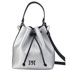 Ασημί τσάντα πουγκί Pierro Accessories 90400