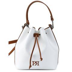 Λευκή τσάντα πουγκί Pierro Accessories 90400