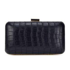 Black croco clutch Pierro Accessories 90499