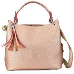 Copper eco-leather shoulder bag Pierro Accessories 90519