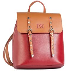 Bordeaux eco-leather backpack Pierro Accessories 90548