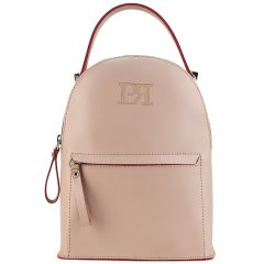 Nude eco-leather backpack Pierro Accessories 90551