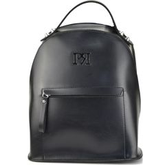 Black eco-leather backpack Pierro Accessories 90562