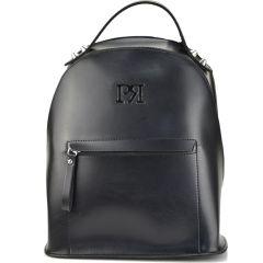 Μαύρο eco-leather σακίδιο πλάτης Pierro Accessories 90562