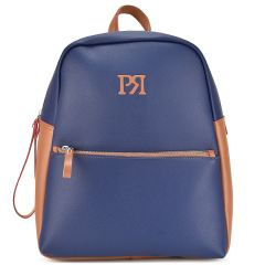 Blue eco-leather backpack Pierro Accessories 90569