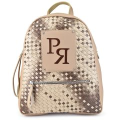 Μπεζ eco-leather σακίδιο πλάτης Pierro Accessories 90573