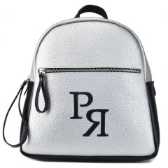 Silver backpack Pierro Accessories 90579