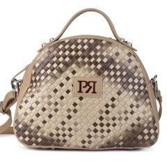 Μπεζ eco-leather τσάντα Pierro Accessories 90581