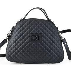 Μαύρη καπιτονε τσάντα Pierro Accessories 90581