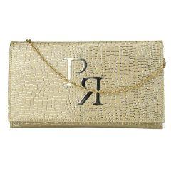 Χρυσός eco-leather φάκελος Pierro Accessories 90586