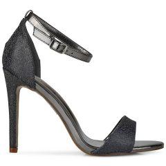 Black high heel sandal 9080-73A