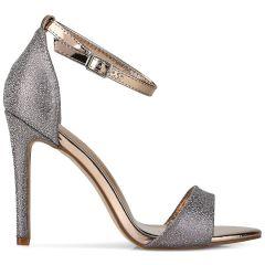 Ηigh heel metallic sandal 9080-73A