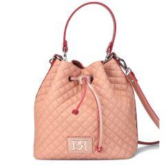 Σομόν καπιτονέ τσάντα πουγκί Pierro Accessories 90400