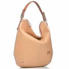 Μπεζ τσάντα ώμου Pierro Accessories 90405