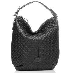 Μαύρη καπιτονέ τσάντα ώμου Pierro Accessories 90405