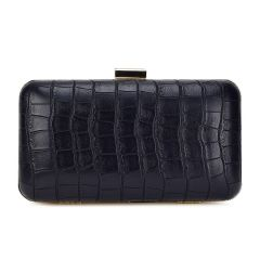 Black croco clutch Pierro Accessories 90499