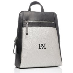 Silver eco-leather backpack Pierro Accessories 90580
