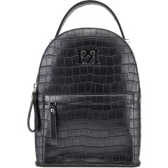 Black croco eco-leather backpack Pierro Accessories 90551