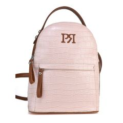 Nude croco eco-leather backpack Pierro Accessories 90551