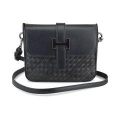 Black knitted cross body bag Pierro Accessories 90560