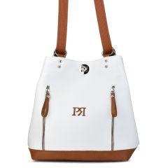 Λευκό σακίδιο Pierro Accessories 90574