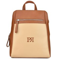 Beige eco-leather backpack Pierro Accessories 90580