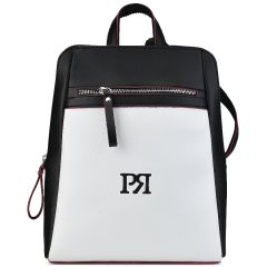 Black eco-leather backpack Pierro Accessories 90580