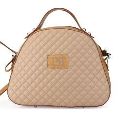 Μπεζ καπιτονε τσάντα Pierro Accessories 90581