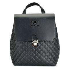 Black capitone backpack Pierro Accessories 90585
