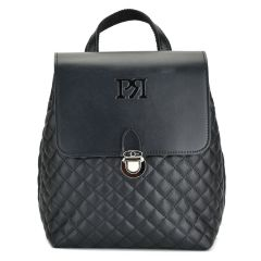 Black capitone backpack Pierro Accessories 90585