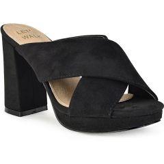 Μαύρο χιαστή πέδιλο Let's Walk JN99-15