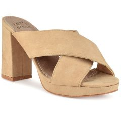 Beige hight heel sandal Let's Walk JN99-15